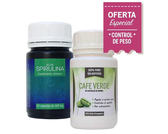 Combo Adelgazante 2: Spirulina + Café verde