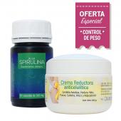 Combo Adelgazante 3: Alga Spirulina + Crema Anticelulitica
